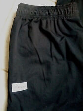 Chef Designs Baggy Chef Pants w Elastic Waist Solid Black Size: Adult 2X