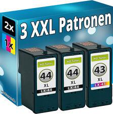 Set 3 TINTE PATRONEN für LEXMARK 44XL+43XL X4850 X4875 X4950 X4975 X4975ve X6570