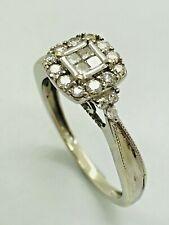 9ct White Gold Diamond Engagement Ring - 0.40ct