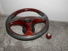 "Vintage 'OBA' steering Wheel - Classic Sports Car Or Garage Decor- ""MG""Gear Knob"