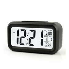 Digital LCD Display Thermometer Humidity Clock Colorful Alarm Calendar Weather