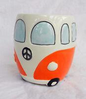 Volkswagen - V W Camper Van Ceramic Mug - Orange - BNIB