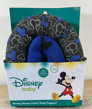 Disney Mickey Mouse Infant Head Support Blue & Black Machine Washable NEW
