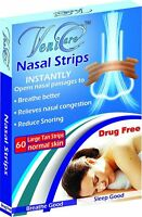 VeniCare NASAL STRIPS Reduce Snoring Right Now Relieves 60 pcs Large=(1 Box)