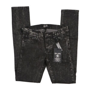 Kill City  Mens Junkie Fit Skinny Dyed Washed Jeans