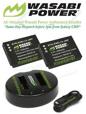 Wasabi Power Battery x 2 And Charger for Nikon EN-EL12, S1000pj, 1100pj, 1200pj