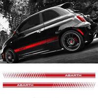 Fiat Abarth 500 595 Side Stripe Decal ANY COLOUR CHOICE italian flag