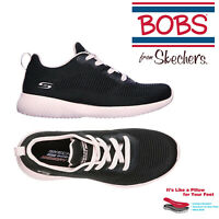 Skechers Womens Bobs Squad Summer Haze Ladies Lace Up Trainers Sporty Shoes