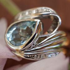 Ring AQUAMARIN 2.45 ct BRILLANT 0.06ct PLATIN AQUITANIA BLUE SW ca. 3.420-Euro