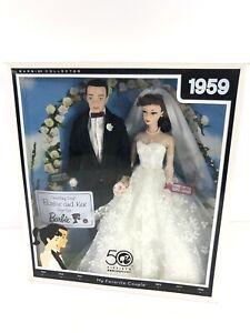 1959 MY FAVORITE COUPLE WEDDING DAY BARBIE & KEN DOLL VINTAGE REPRO MATTEL P6750