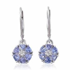 Tanzanite Drop/Dangle Not Enhanced Fine Earrings
