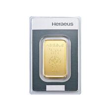 20 Gramm Goldbarren Heraeus Gold 999,9 Feingold Barren