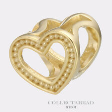 Authentic Endless Silver Gold Plated Heart Dots Gold Bead 51301