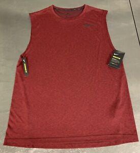 """NIKE """"Breathe"""" DRI-FIT Training Tank Top Cranberry Men's Large L (847802-652)"""