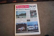 Motoring News 20 April 1988 Plains Rally ETC John Andretti Jerez F3000 Mike kidd
