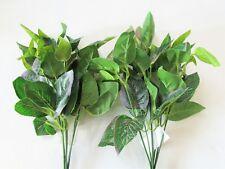 Set of 2 Artificial Rose Leaf Bushes - 32cm - Greenery Sprays Fake Foliage