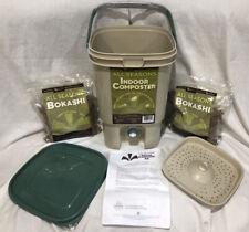 SCD Probiotics All Seasons Indoor Composter Easy Start Countertop 2 Bags Bokashi