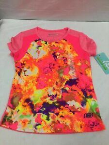 Girls Skechers Active Wear Top, Spring Floral,  NWT
