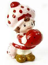 "Vintage Strawberry Shortcake Ceramic 3"" Figurine w/ Custard Cat WWA 1982"