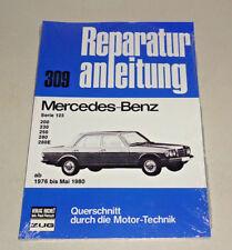 MERCEDES W123 Series 200 230E Benzina 1980-1987 MANUALE OFFICINA SERVIZIO RIPARAZIONE