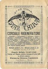Stampa antica pubblicità STAR CHINA liquore cordiale 1899 Old antique print