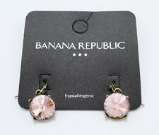 New Pair of Pink Rhinestone Drop Earrings by Banana Republic #BRE43