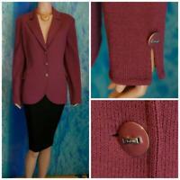 ST. JOHN Knits Collection Mauve Pink Jacket L 12 14 Blazer Button Collared