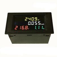 AC 80-300V 110 220V 100A LCD Digital Volt Watt Power Kwh Meter Ammeter Voltmeter