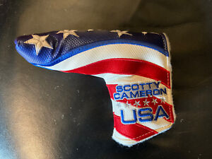 SCOTTY CAMERON 2011 USA US OPEN PUTTER FLAG HEADCOVER RARE