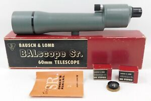 Vintage Bausch & Lomb Balscope SR 60mm Telescope with 20x & 60x Objective Lenses