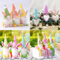 Easter Bunny Gnome Rabbit Nordic Decor Tomte Plush Toy Doll Ornaments Kids Gifts