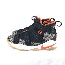 0d5921f1375 A2 Nike Lebron Soldier XI SFG (GS) Safari Black Team Orange AJ5123-006