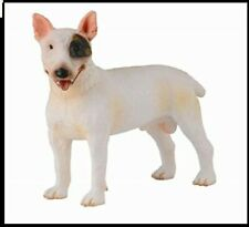 Bull Terrier Dog Figurine White Black Spot Adult Pet Collecta Toy Canine New '