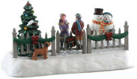 NEW Lemax 2018 Christmas Train Village Animated Snowman SWINGING GATE #84351