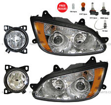 4 Pieces Combo - Headlight with Fog Lamp - LH & RH (Fit: Kenworth T660 )