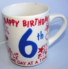 Alcoholics Anonymous AA NA 6 Year Birthday Sober Recovery Vintage Coffee Mug Cup