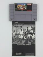 Goof Troop w/ Instructions Game Authentic Original Cleaned Tested SNES Cartridge