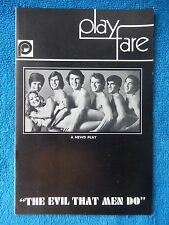 The Evil That Men Do - Bouwerie Lane Theatre Playbill - October 1970 - Boyd
