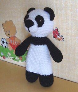 Panda Crocheted Baby Toy Handmade