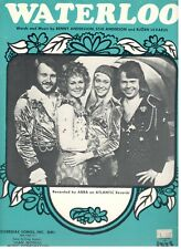 """ABBA """"WATERLOO"""" SHEET MUSIC-PIANO/VOCAL/GUITAR/CHORDS-1974-VERY RARE-NEW ON SALE"""