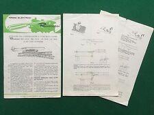 (R7) RIVAROSSI istruzioni installazione uso scambi + 2 folder CATALOGO treno
