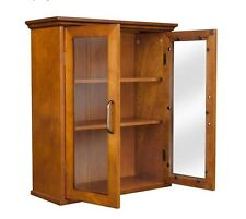 Bathroom Wall Cabinet Medicine Kitchen Shelf Cupboard Glass Display Storage Home