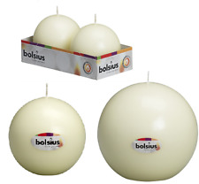 Ball Candles By Bolsius 65 / 100 / 145mm - IVORY - FREE DELIVERY