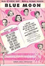"WORDS & MUSIC Sheet Music ""Blue Moon"" Judy Garland Lena Horne Gene Kelly"