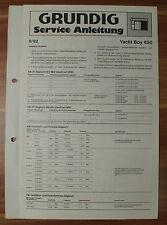 Radio Yacht-Boy 650 Grundig Service Manual Serviceanleitung