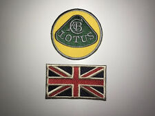 BRODERIE LOTUS & UNION JACK ECUSSON BADGE