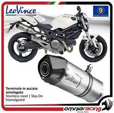 Leovince LV One 2 terminali scarico inox omologato Ducati Monster 796 2010>2014
