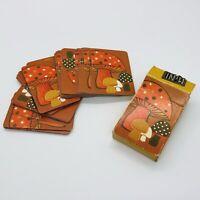 Vintage Mushrooms Mini Playing Cards Hallmark 1970's Complete Deck Retro Groovy