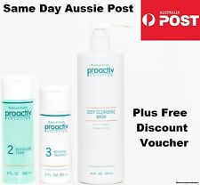 PROACTIV 3 PIECE 60 DAY SET 720ml Deep Cleansing Wash Cleanser Toner Lotion