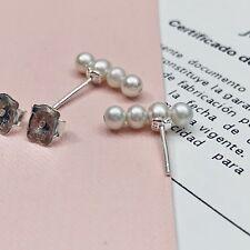 Autentic TOUS Straight Pearl Bear Stud Earrings